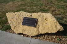 Eisenhower State Park dedication plaque outside the visitor's center