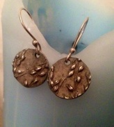 Switchgrass earrings by Gayle Dowell