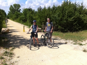 Authors on the Southwind Rail Trail. Photo by Mark Conard