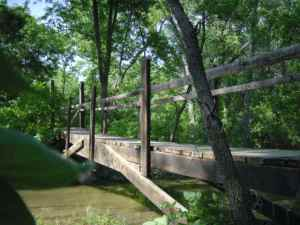 This is what the bridge looked like before it washed out. . .  Photo by Jim Mason
