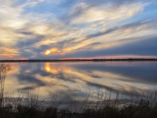 Sunset at Quivira National Wildlife Refuge. Photo by Mark Conard