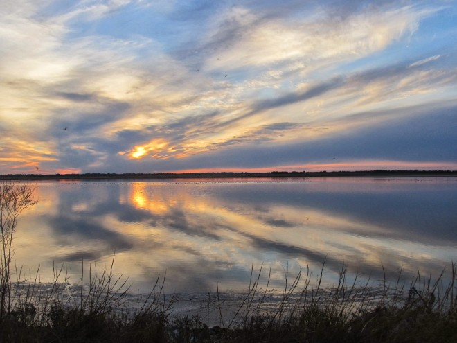 Sunset at Quivira National Wildlife Refuge. Photo by Mark Conard