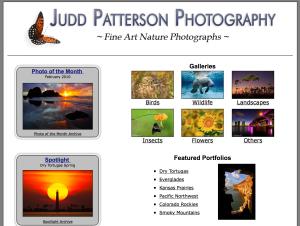Screen shot from Judd Patterson's website