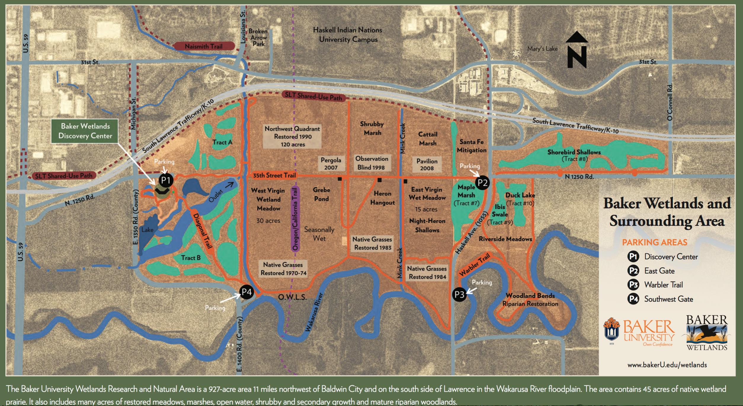 Little Jerusalem Kansas Map.The New Baker Wetlands Discovery Center Kansas Trail Guide