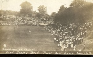Baseball game at Fort Scott, early 20th century. Don Miller. NPS website.