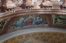 One of the restored frescoes