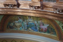 One of the restored frescoes (see the face in the painter's canvas? That's the frescoes artist)