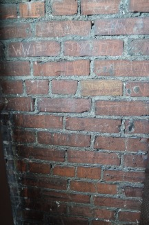 Graffiti can be found throughout the dome - from its past when it was open to the public with no guides.